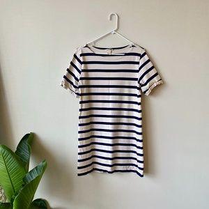 H&M Blue and White Striped T-Shirt Dress